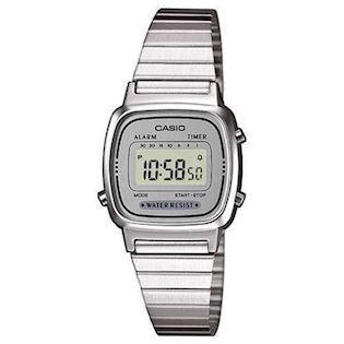 LA-670WEA-7EF Casio Collection dameur<br>stål med grå urskive